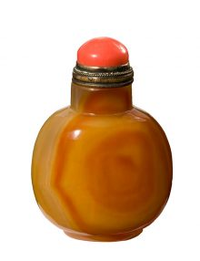 Agate color glass snuff bottle