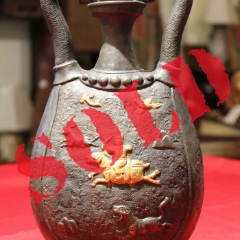 Antique Chinese Tang Dynasty Silver Pitcher