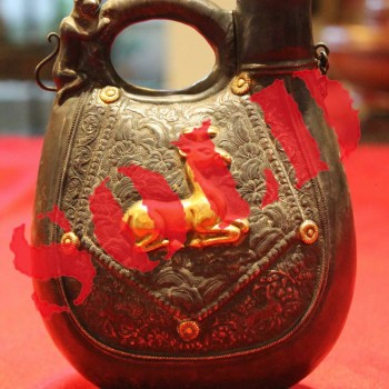Chinese Antique Tang Dynasty Silver Pitcher