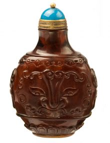 Qing Dynasty Brown Glass