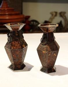 Antique Tortoise Shell Vases
