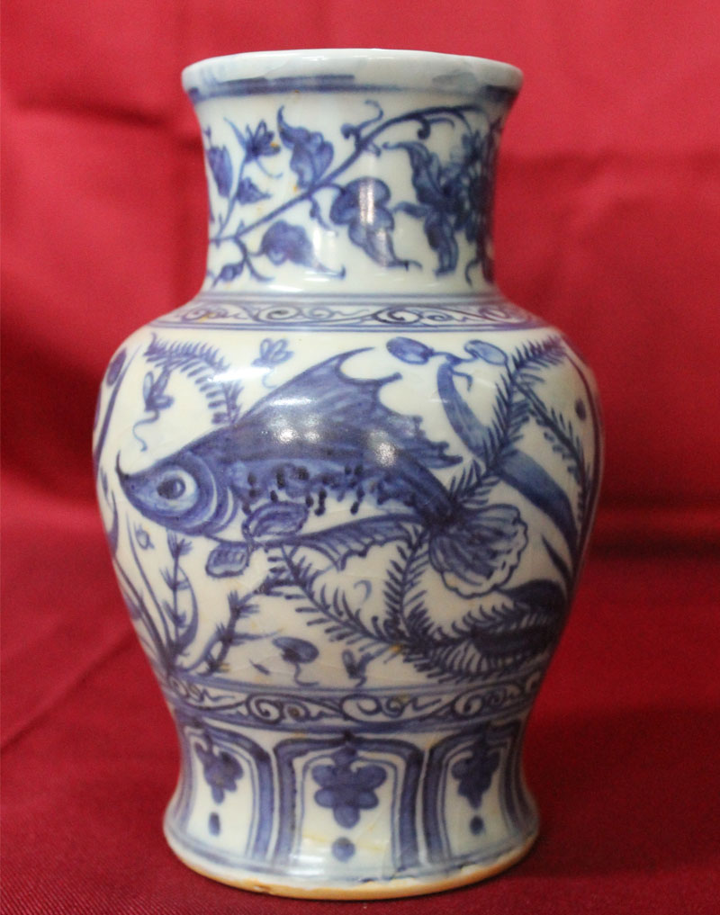 Antique Chinese Porcelain Vase Qing Dynasty Real Rare
