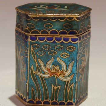 Antique Chinese Closionne Box for opium