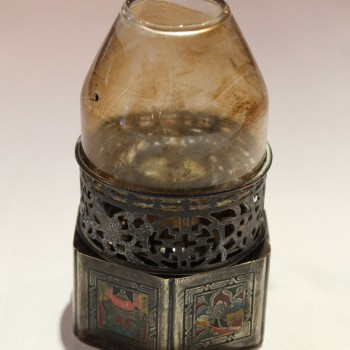 Antique Chinese Cloisonne opium Oil Lamp Marked