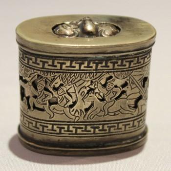 Antique Chinese Opium Pipe Pornographic Stash Box