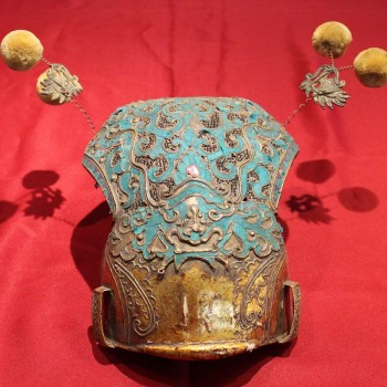 Antique Chinese Opera Hat Qing dynasty