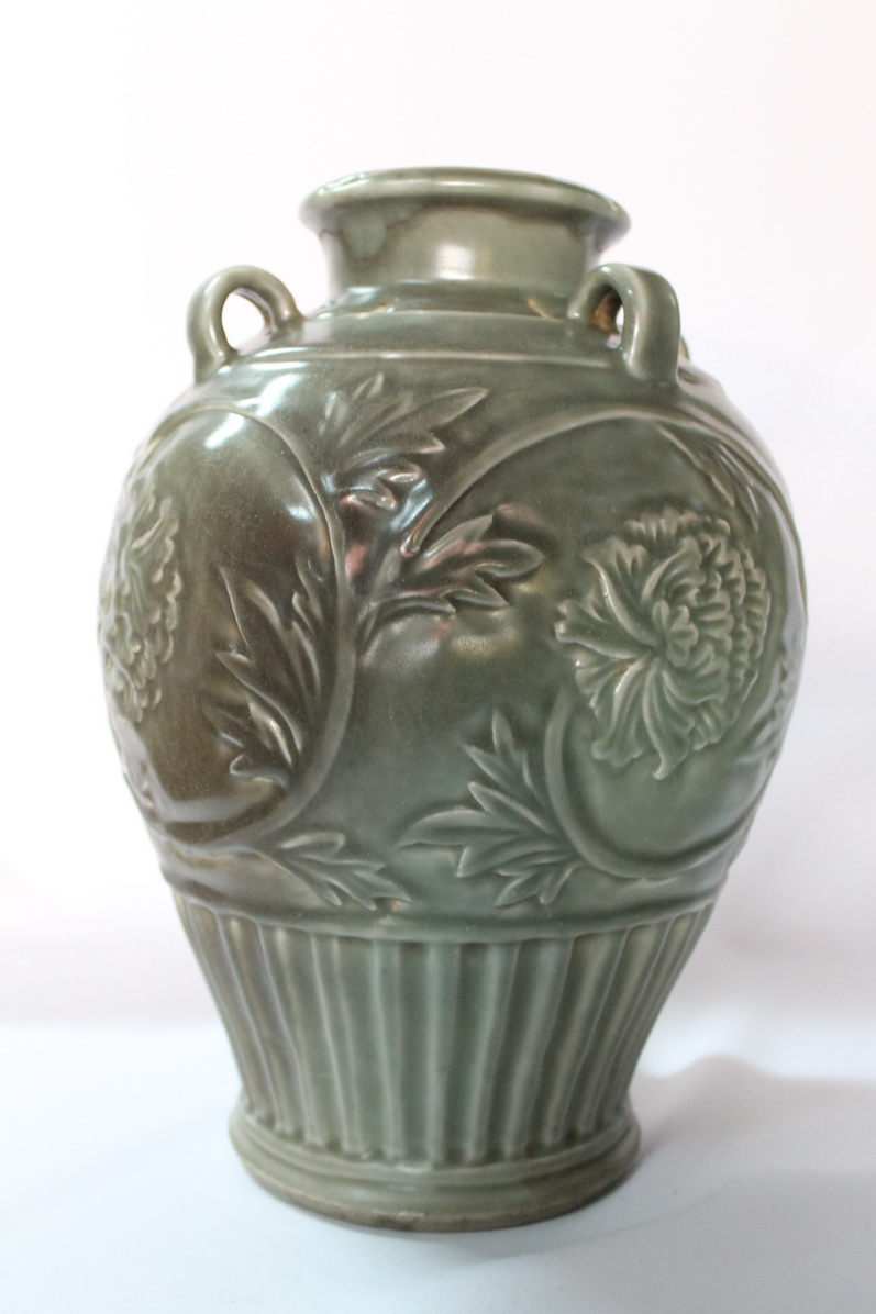 Antique Chinese Porcelain Vase Song Yuan Dynasty Celadon Glaze Real Rare Antiques