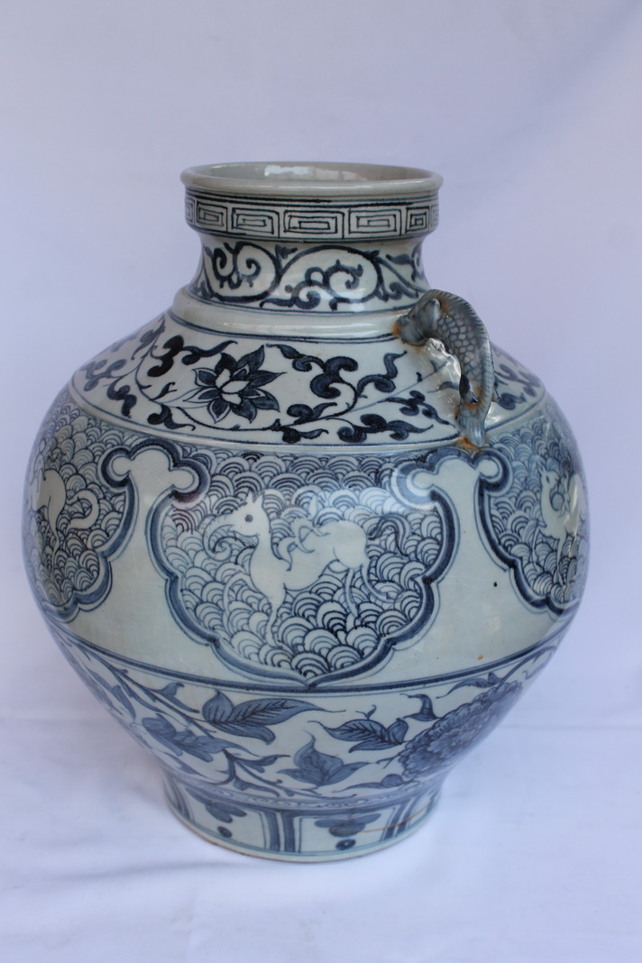 Antique Chinese Porcelain Vase From The Early Ming Dynasty Real Rare Antiques