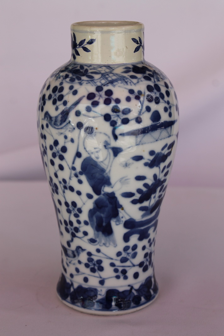 Antique Chinese Porcelain Vase Qing Dynasty Jar Old China 19th