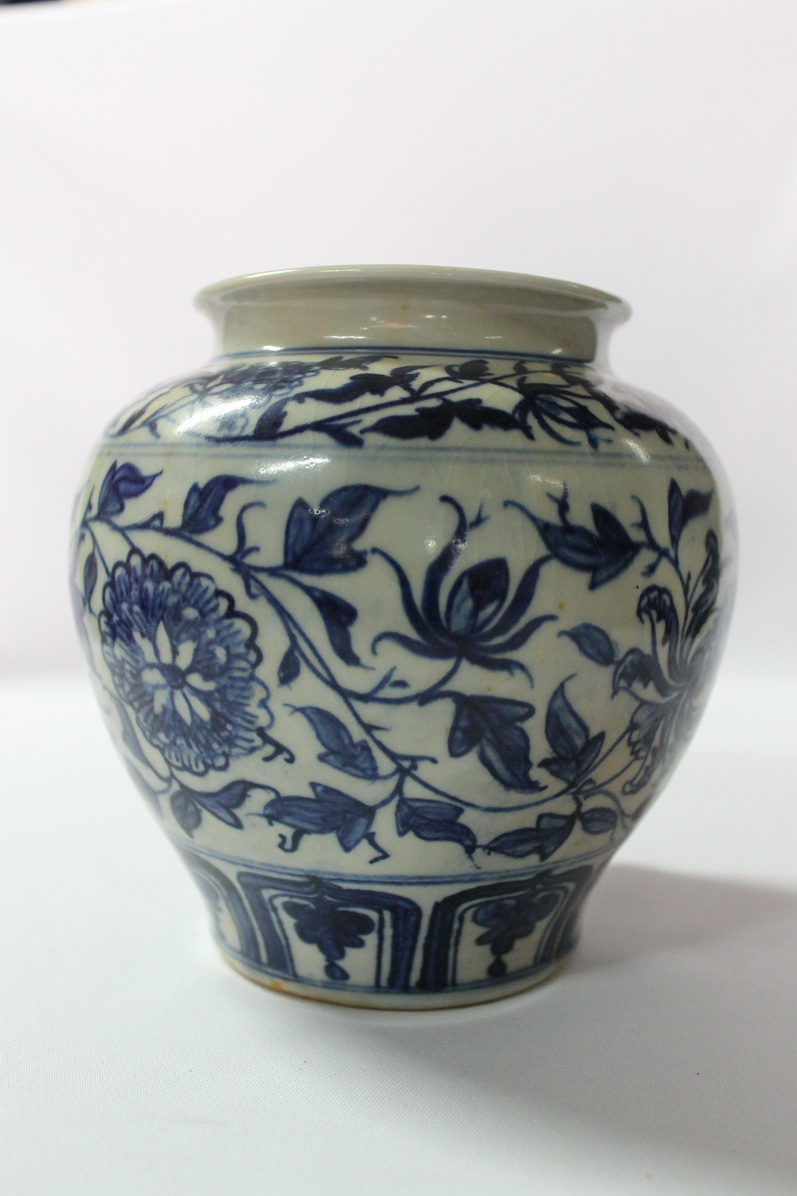 Early Qing Dynasty Antique Chinese Blue And White