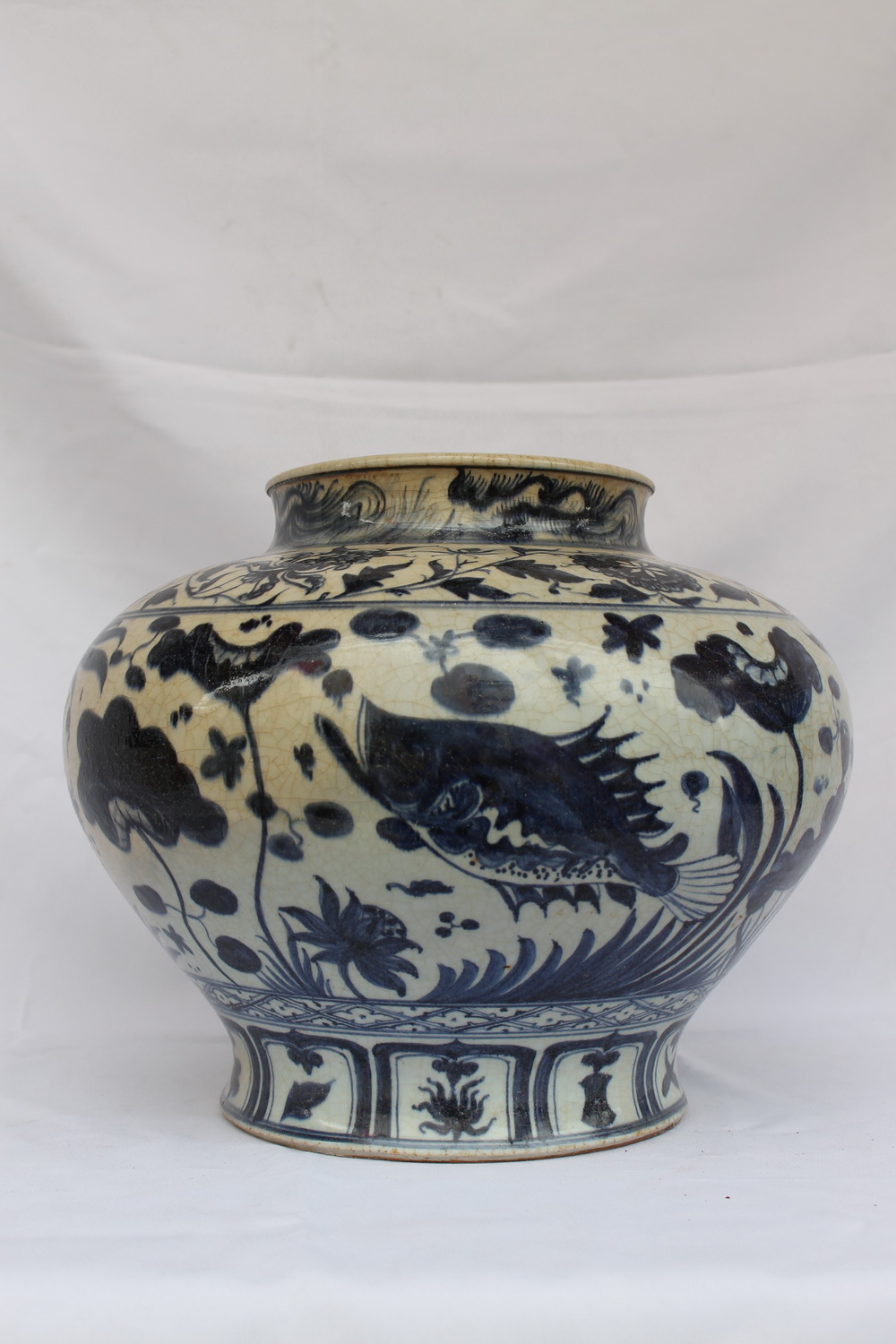 Ming Dynasty Vase Chinese Antiques Blue And White Porcelain Real Rare Antiques